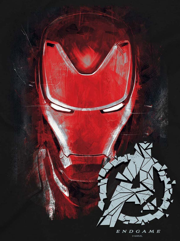 Avengers Endgame Iron Man Brushed Men's Black T-Shirt