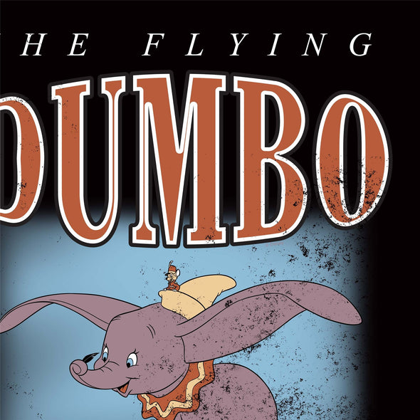 Dumbo The Flying Elephant Children's Unisex Black T-Shirt