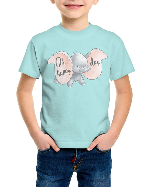 Dumbo Oh Happy Days Children's Unisex Light Blue T-Shirt