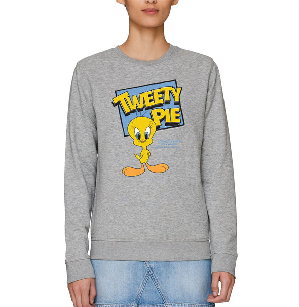 Looney Tunes Tweety Pie Adults Unisex Grey Sweatshirt