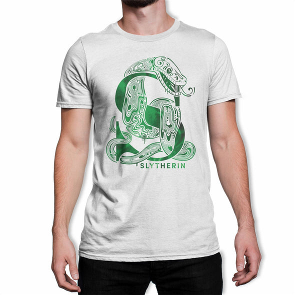 Harry Potter Slytherin Snake White Men's T-Shirt