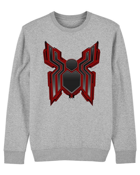 Marvel Spider-Man Far From Home Tech Logo Children's Unisex Grey Sweatshirt