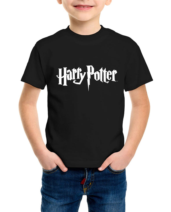 Harry Potter Classic Film Logo Children's Unisex Black T-Shirt
