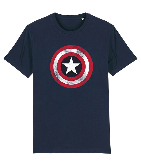 Marvel Captain America Shield Children's Unisex Navy T-Shirt