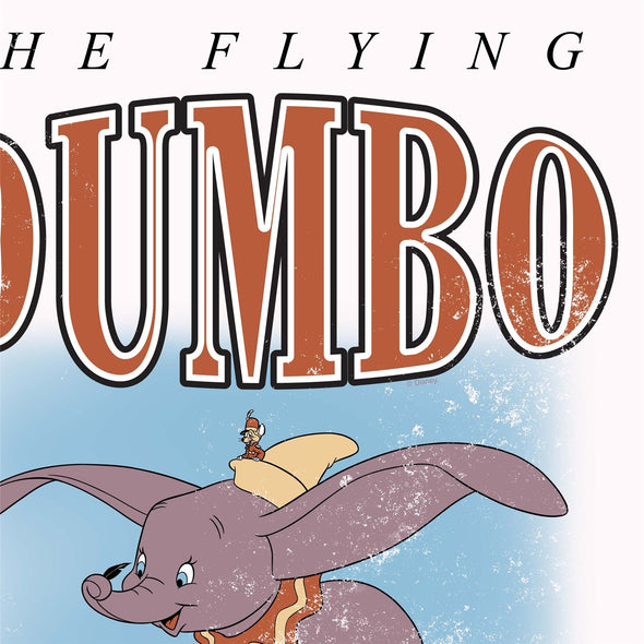 Dumbo The Flying Elephant Ladies White T-Shirt