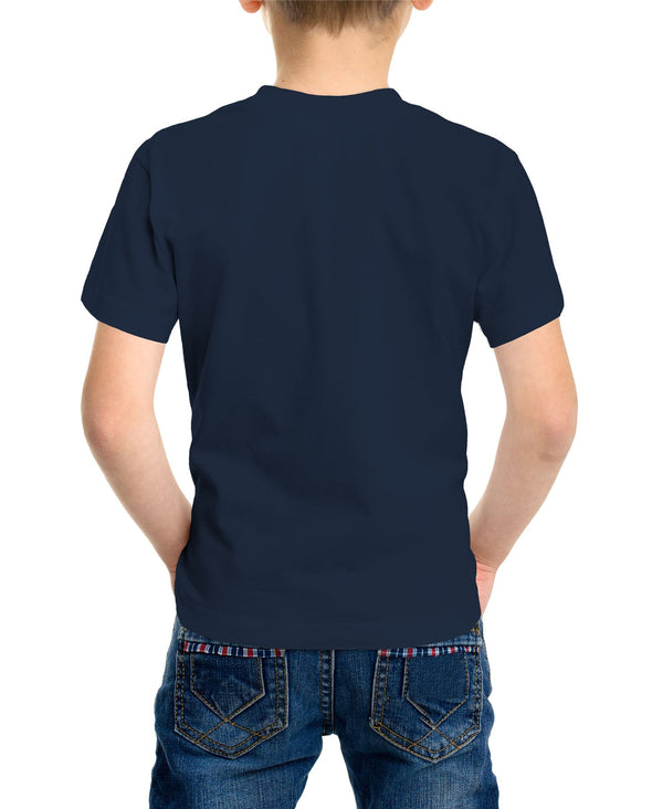 Laurel & Hardy Way Out West Children's Unisex Navy T-Shirt