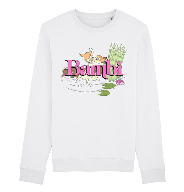 Disney Bambi Kiss Adults Unisex White Sweatshirt