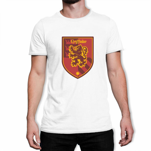Harry Potter Gryffindor Red Crest Men's White T-Shirt