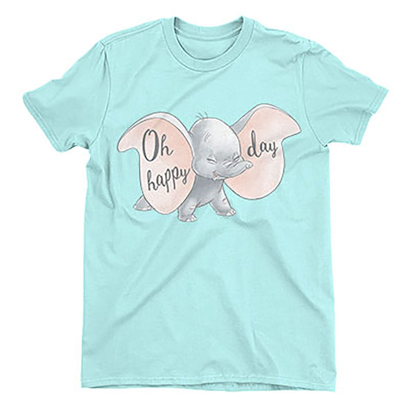 Dumbo Oh Happy Days Men's Light Blue T-Shirt