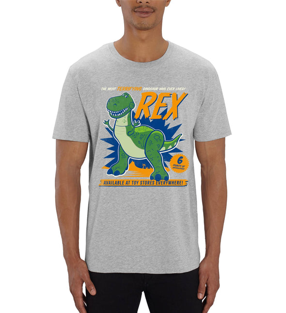 Disney Toy Story 4 The Most Terrifying Rex Men's Grey T-Shirt