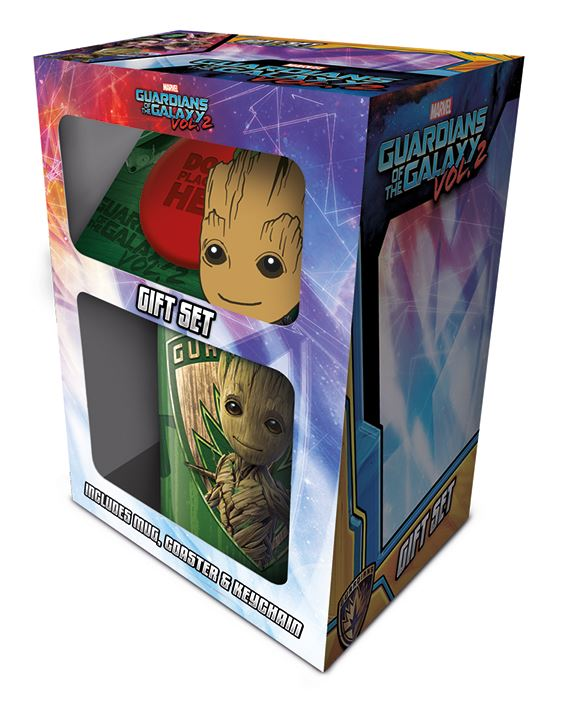 Guardians Of The Galaxy Vol. 2 Groot Mug, Coaster and Keychain Gift Set