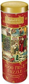 100 Piece Christmas Jigsaw in decorative Tin