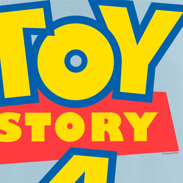 Disney Toy Story 4 Classic Movie Logo Men's Light Blue T-Shirt