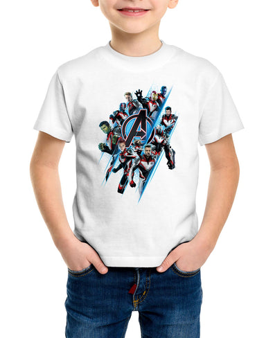 Avengers Endgame A Team Children's Unisex White T-Shirt