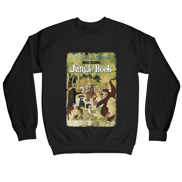 The Jungle Book Retro Poster Adults Unisex Black Sweatshirt