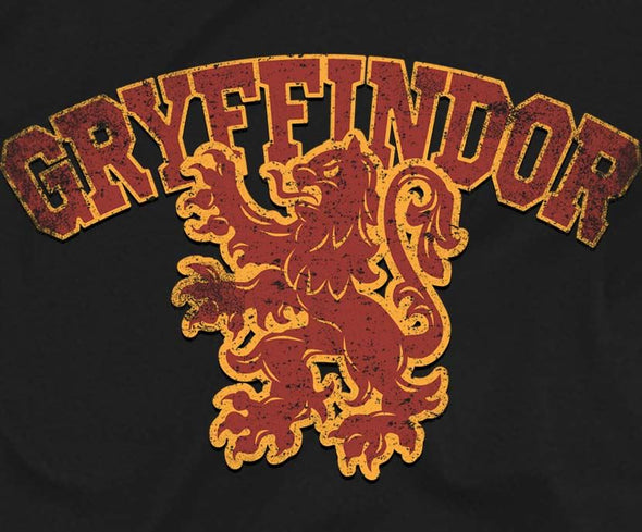 Harry Potter Distressed Gryffindor Lion Children's Unisex Black T-Shirt