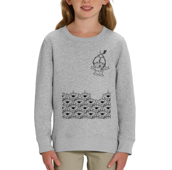 Toy Story Alien Claw Machine Children's Unisex Grey Sweatshirt