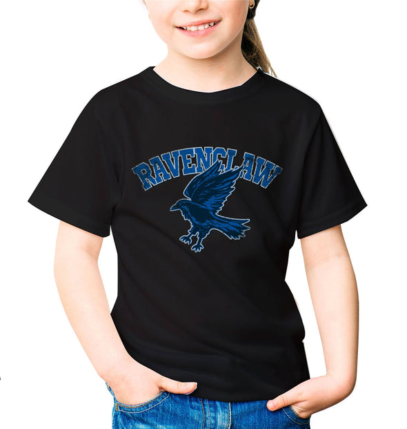 Harry Potter Distressed Ravenclaw Raven Children's Unisex Black T-Shirt