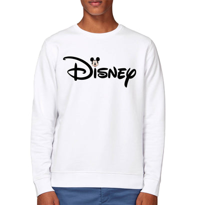 Disney's Mickey Mouse & Logo Adults Unisex White Sweatshirt