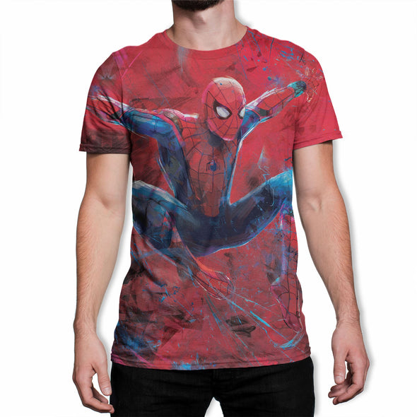 Marvel Spider-Man Far From Home Flying Men's White Sublimation T-Shirt