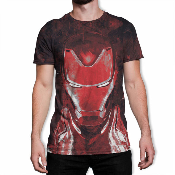 Avengers Endgame Iron Man Men's Red Sublimation T-Shirt
