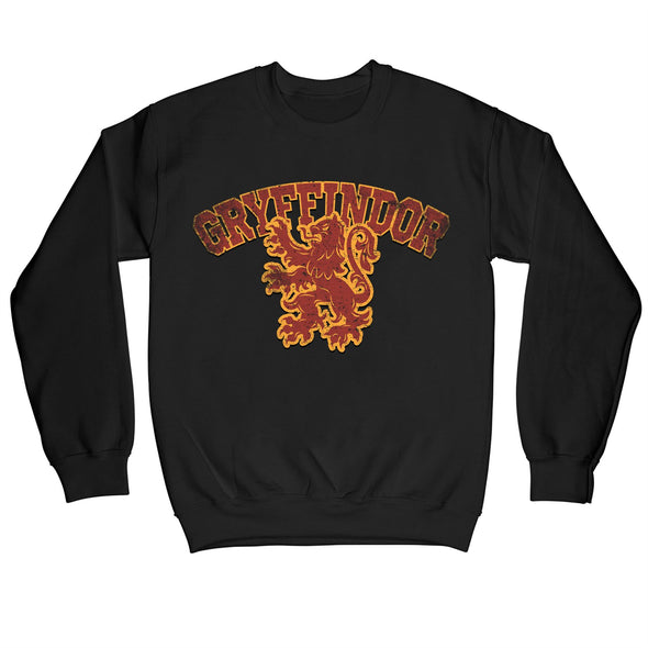 Harry Potter Distressed Gryffindor Lion Children's Unisex Black Sweatshirt