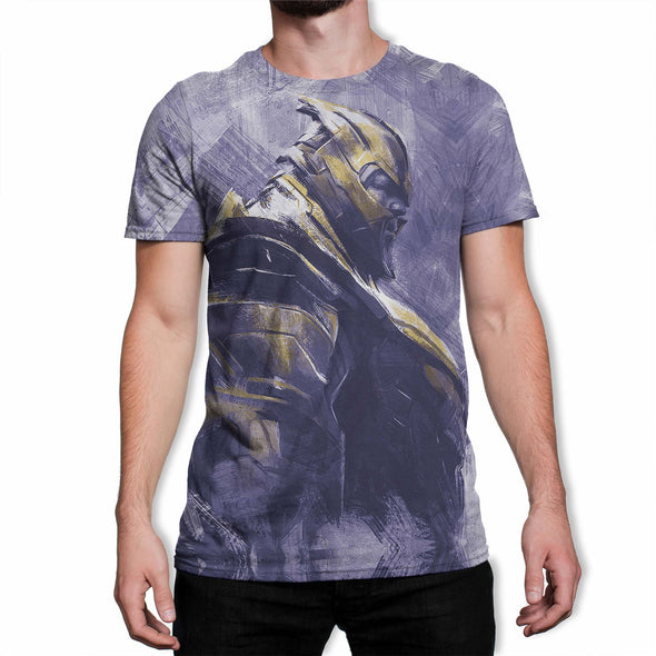 Avengers Endgame Thanos Men's Purple Sublimation T-Shirt
