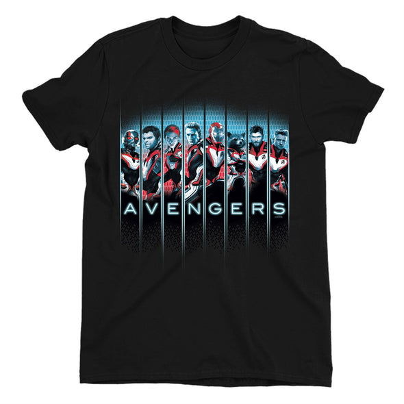 Avengers Endgame Character Line Up Children's Unisex Black T-Shirt