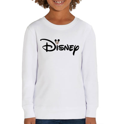 Disney's Mickey Mouse & Logo Children's Unisex White Sweatshirt
