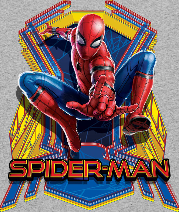 Marvel Spider-Man Far From Home Jump Ladies Grey T-Shirt