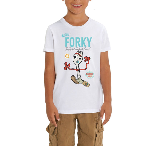 Disney Toy Story 4 Forky Children's Unisex White T-Shirt