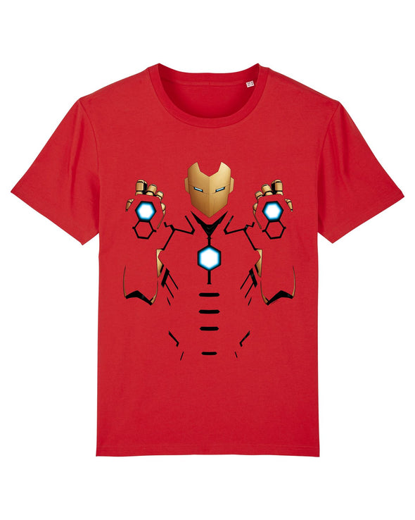 Marvel Universe Iron Man Armored Suit Men's Red T-Shirt