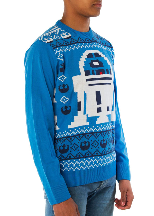 London Co. Star Wars R2D2 Blue Unisex Christmas Knitted Jumper