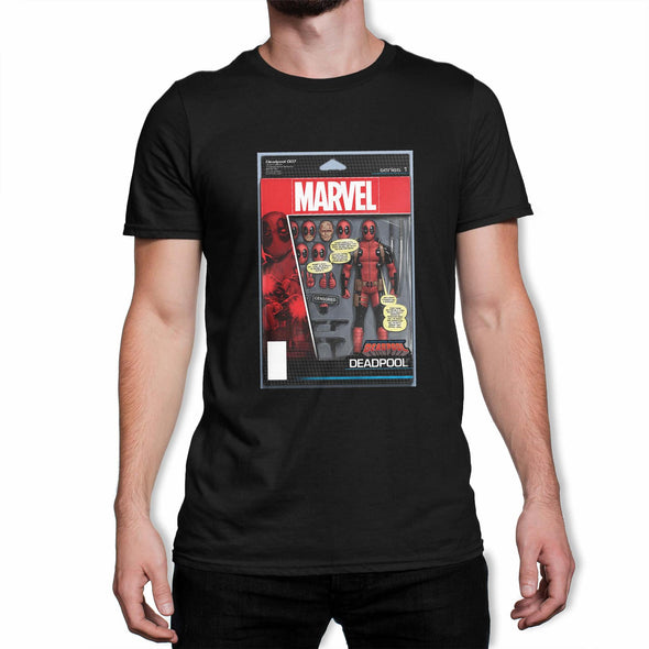 Deadpool Figure Men's Black T-Shirt