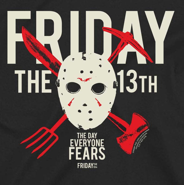 Friday The 13th Day Of Fear Men's Black T-Shirt
