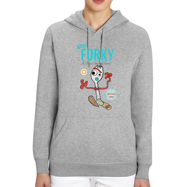 Disney Toy Story 4 Forky Adults Unisex Grey Hoodie