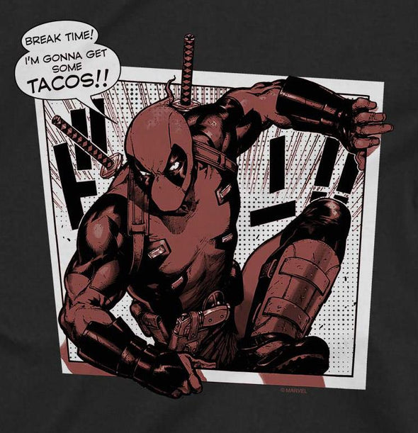 Deadpool Tacos Men's Black T-Shirt