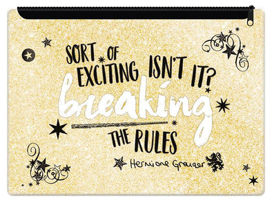 Harry Potter Hermione 'Sort of exciting isn't it? Breaking the rules' Unfilled Pencil Case
