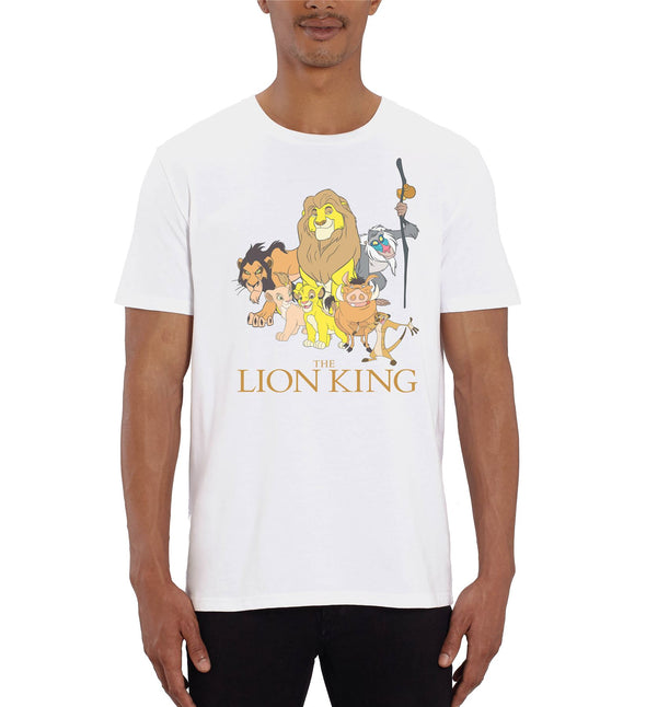 The Lion King Group Photo Men's White T-Shirt