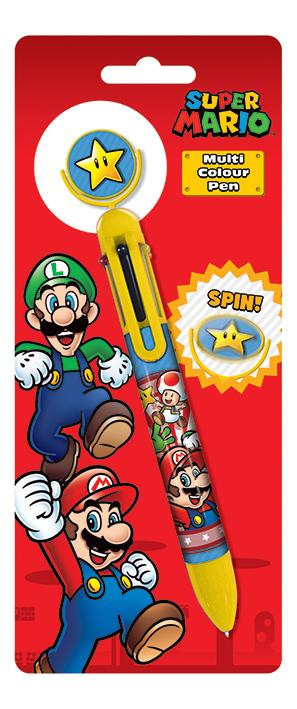 Super Mario Multi Coloured Pen with Spin Top Feature