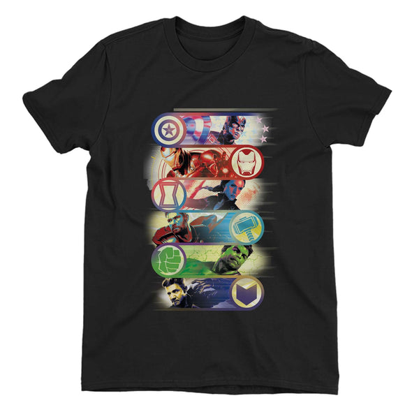 Avengers Endgame Original Heroes Children's Unisex Black T-Shirt