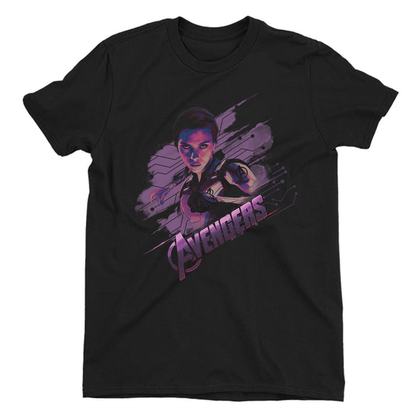 Avengers Endgame Black Widow Ladies Black T-Shirt