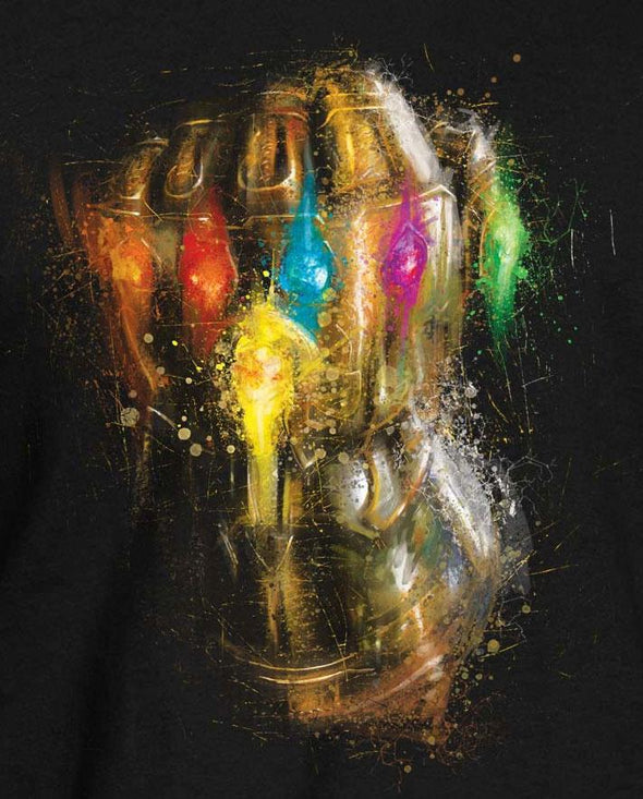Avengers Endgame Infinity Gauntlet Men's Black T-Shirt