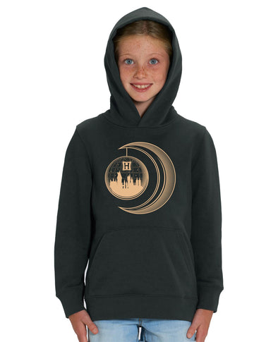 Harry Potter Golden Moon Children's Black Unisex Hoodie