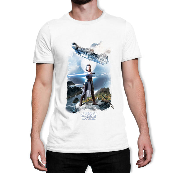 Star Wars Rey Falcon Men's White T-Shirt