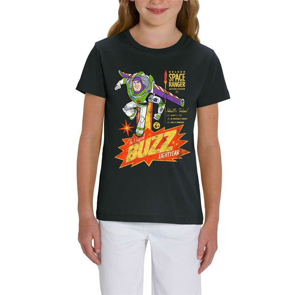 Disney Toy Story 4 Retro Buzz Lightyear Children's Unisex Black T-Shirt