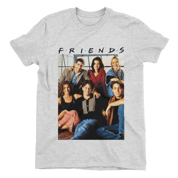 Friends Group Photo Men's Grey T-Shirt