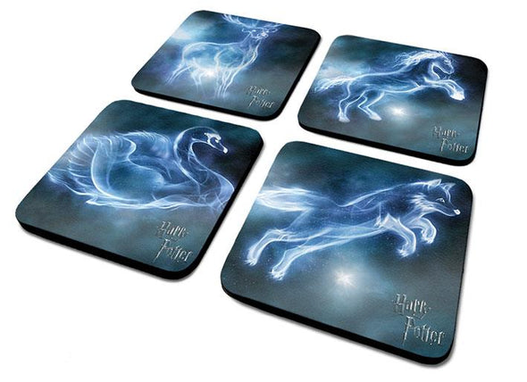 Harry Potter Patronus 4 Coaster Sets