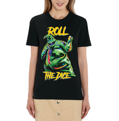 Nightmare Before Christmas Oogie Boogie Roll the Dice Ladies Black T-Shirt