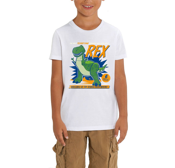 Disney Toy Story 4 The Most Terrifying Rex Children's Unisex White T-Shirt